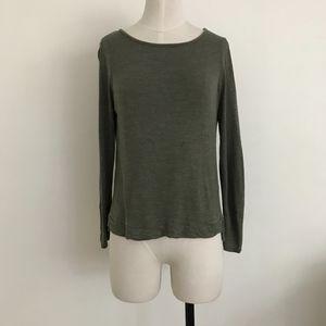 Madewell Long Sleeve Forest Green Shirt